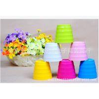厂家直销批发 仿真花假花插花用 塑料小花盆 做盆栽