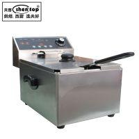 共好 DZ8L加厚电炸炉单缸商用 定时电炸锅 炸鸡机薯塔机
