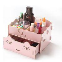 diy韩国木质桌面品收纳盒化妆首饰整理盒抽屉式储物盒厂家直销