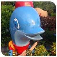 厦门宜创展示供应各类优质海豚玻璃钢雕塑