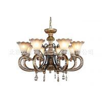 定制欧式吊灯田园简欧客厅灯复古美式铁艺餐厅卧室吸顶灯