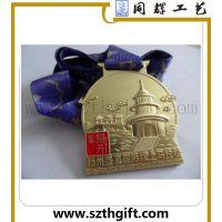供应金属织带奖牌 深圳同辉高品质奖牌可来图稿定做生产