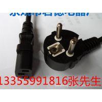 生产厂家低价供应PCVVDE认证D002欧洲插头欧洲标准2芯插头