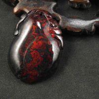 玉石吊坠花件如意福瓜树叶挂件批量雕刻加工鸡血石来料加工定做
