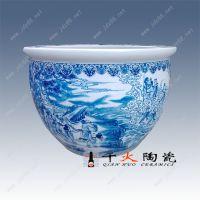 批发陶瓷鱼缸 景德镇千火陶瓷1.2米家居摆件陶瓷大鱼缸生产厂家