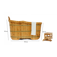 SPA浴桶豪华木质浴缸 香柏木浴盆 浴缸桑拿木桶沐浴桶 高档美容院1.2m*62cm/73cm SP
