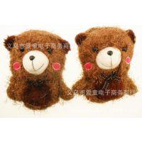 儿童手套 宝宝秋冬加绒加厚手套 韩版 立体卡通小熊手套