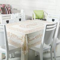 伙拼 厂家直销 定制 PVC餐桌布台布欧式防水塑料烫金桌布