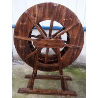 厂家直销 定做水车 景观水车 炭化木水车 实木水车 仿古景观水车
