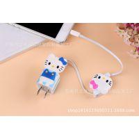 卡通USB充电器1A USB充电头 便携式迷你电源转化器 手机直充插头