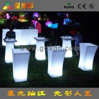 2014新款推荐LED发光桌子 时尚酒吧发光酒桌 绿箭侠剧中酒吧桌