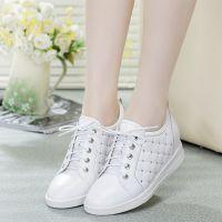 温州厂家直销新款学生鞋圆头系带内增高真皮女式单鞋 K622-11H