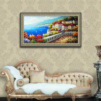 地中海风景油画 手绘居家客厅现代装饰油画 沙发背景墙壁挂画