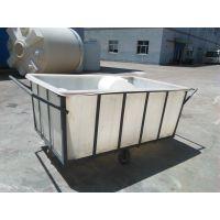 大方口塑料桶 纺织周转方形推车桶 万能台车桶 布衣车内胆供应