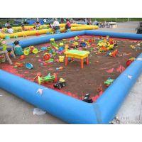 郑州威奇游乐设备长期供应儿童趣味充气沙滩池、充气水池
