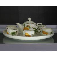 高档骨瓷茶壶 大容量南瓜造型创意茶壶 骨瓷咖啡壶 厂家直销