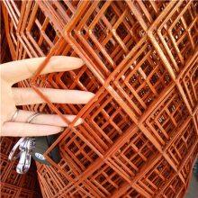 现货菱形防护网片 喷漆金属网 低碳冲压钢板网