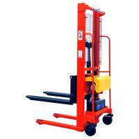 供应经济型简易式手推电升升降叉车 电动液压堆垛机1T升1.6米