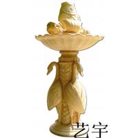 艺宇动物圆雕张家界砂岩喷泉别墅水池流水欧式流水盆景观装饰定制