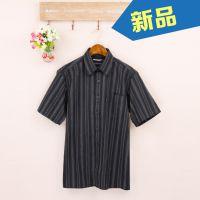 男人必备商务休闲短袖 时尚条纹短袖衬衫职业装L216