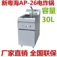 新粤海AP-26立式单缸双筛电炸炉电炸锅 油炸锅 全国联保容量30L
