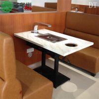 韩式烧烤桌 一体桌 烤涮一体桌 无烟自助款式 火锅烧烤桌