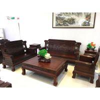 东非酸枝6件套古典实木沙发定制厂家—大古树家具