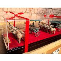 陕西收藏品,西安铜车马工艺品桌摆件,西安宁派为博物馆专供纯铜车马兵俑复制品厂家