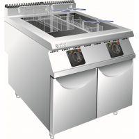汇利CR-FR-709 商用柜式豪华燃气煎炸炉(双缸四筛)食品加工设备