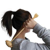 7002 老人用不求人双头挠痒痒按摩锤按摩棒 敲打活血抓痒两用