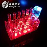 紫虹试管杯架 LED充电 发光 酒吧灯具