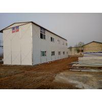 滕州岩棉彩钢板房生产|滕州大禹双层防火雅致房安装