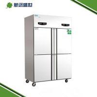 后厨四门冷柜|酒店厨房冷藏柜|双温冷冻冷藏柜|立式冰箱冷藏柜