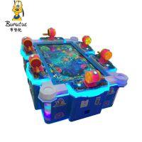 布努托新款大型游戏机电玩城儿童游乐园投币出儿童6人钓鱼
