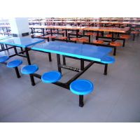 松江快餐店餐桌、学校餐桌、工厂食堂餐桌、康腾户外商城餐桌椅