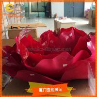 商场橱窗道具定制 仿真大玫瑰花 亚克力花朵道具