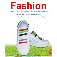 Shenzhen factory silicone shoe laces shoelace factory