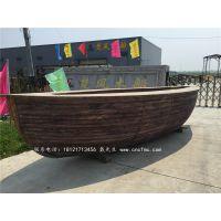 楚风木船出售漫猫咖啡木质吧台船型吧台