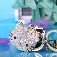 【厂家直销】 KT猫 水镜钥匙扣 化妆镜功能挂件 可爱韩版 43069