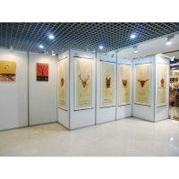 广东博物馆3厚米PVC展板铝合金屏风展架,八棱柱隔断材料生产工厂