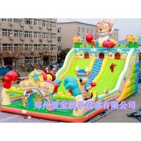 山东滨州儿童充气蹦蹦床 广场摆放充气城堡、好玩的充气大滑梯、新款
