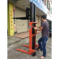 江西双门架2吨升2.5米手推升降叉车 C型钢门架脚踩式液压堆高车