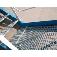 河北安平厂家供应 防锈焊接钢格踏步板 压焊防滑不锈钢隔板