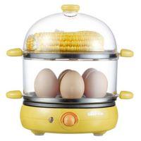 小熊ZDQ-219煮蛋器,蒸蛋、煎蛋、牛扒、烙饼,双层多功能电蒸锅