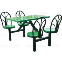 广州供应四人位靠背椅餐桌 玻璃钢材质厂家批发