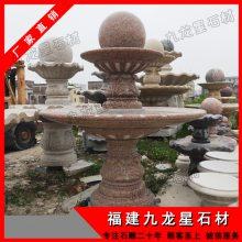 厂家直销石雕喷泉水钵|景观水钵雕塑|庭院黄锈石水景石雕