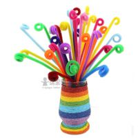 毛根扭扭棒彩色毛条送教程幼儿园益智玩具diy手工制作材料丝网花