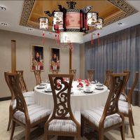 中式led吊灯实木艺灯古典茶楼酒店餐客厅展厅客房灯具灯饰8017