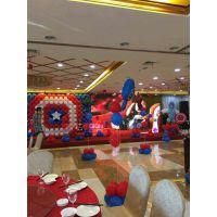 宝宝宴气球策划和布宴案例之美国队长主题
