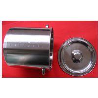 SUS316不锈钢量筒 内外刻度量液桶 10L储物锅 实验用量边带把手量桶
